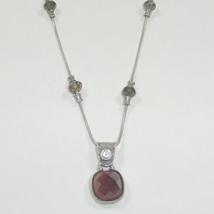 Silpada Smoky Quartz CZ Necklace N1264
